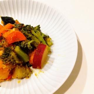 元気盛り。無水鍋で、親子ほっこり温野菜。