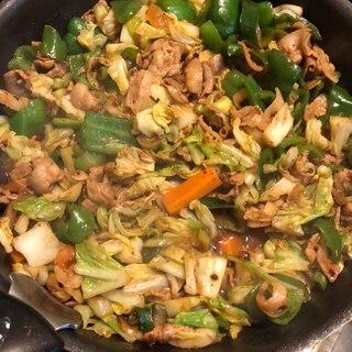 焼肉のたれ使用❤野菜たっぷり肉炒め