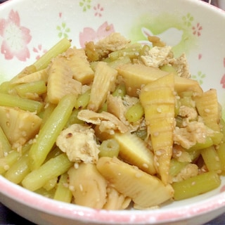 フキと筍の炒り煮   〜まぜご飯・使い切りにも