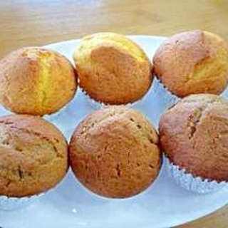 簡単カップケーキ プレーン&ココア味