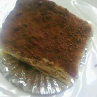 マリー系ビスケットでコーヒー香るサンドケーキ