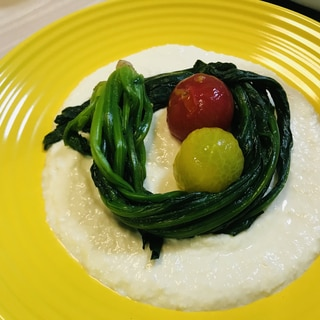 簡単♬ヘルシーオシャレ料理♡野菜の豆腐クリーム添え