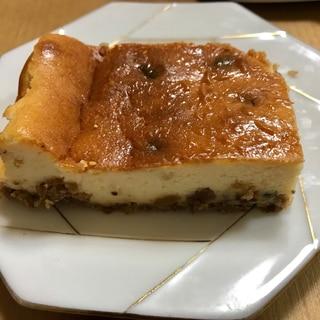 グラノーラでチーズケーキ