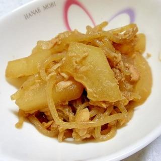素朴で柔らか冬瓜とシーチキンの炒め煮