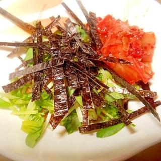 ★豆苗、キムチ、海苔納豆★