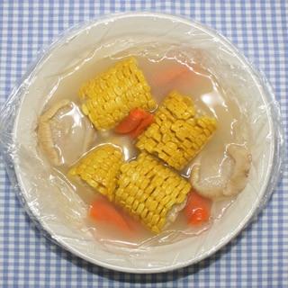 ポリ袋レシピ☆乾燥とうもろこしと乾燥野菜のスープ