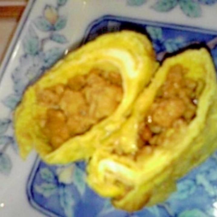 鶏そぼろ入りたまご焼き★鶏そぼろアレンジ★簡単
