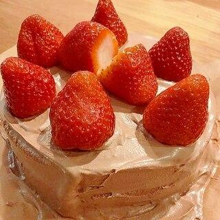 苦さ控え目!ストロベリーチョコレートケーキ!