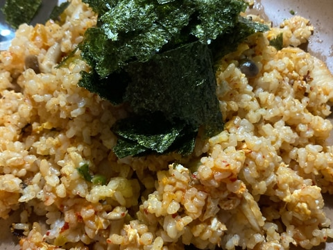 玄米で簡単キムチチャーハン