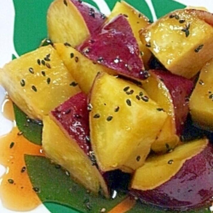 簡単★炊飯器で蒸かしたさつま芋で♪大学芋