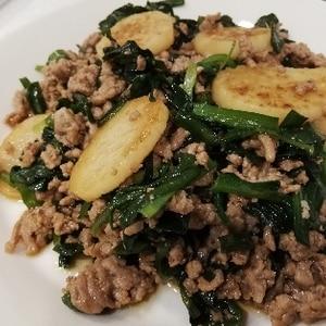 スタミナ料理*長芋の甘辛挽肉炒め