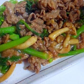 青菜と牛肉の炒め物