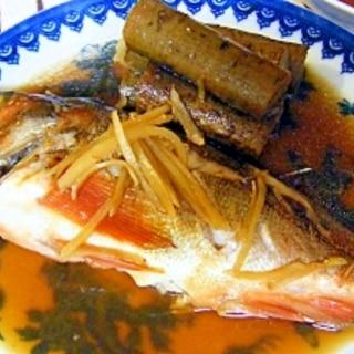 メバルとごぼうの生姜煮