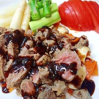 ラム肉のコンフィ バルサミコソース