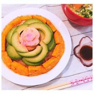 ひな祭りに♡海鮮ナシでも華やか♪鶏そぼろちらし寿司
