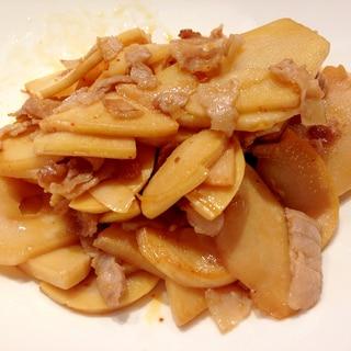 豚バラ肉とたけのこの炒め物