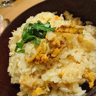 バターの香り∬ベビーほたての炊き込みご飯