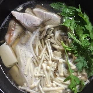 ハマチと野菜の簡単鍋仕立て
