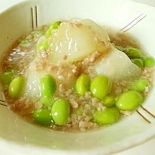 とうがん と むき枝豆のあんかけ煮