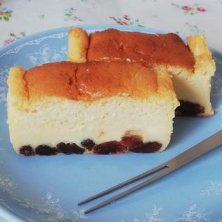レーズン好き旦那さん絶賛♪大人用チーズスフレケーキ