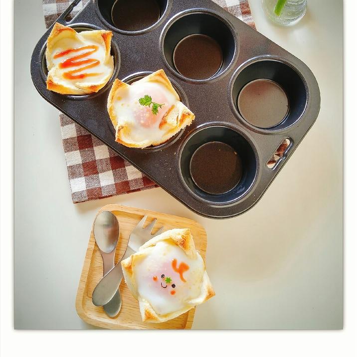 カップ目玉焼きトースト