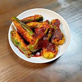ピーマンの肉詰め♪♪野菜たっぷりに♪