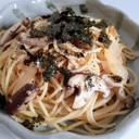 白菜ときのことツナの和風パスタ