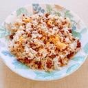 甘辛ミンチと卵のチャーハン