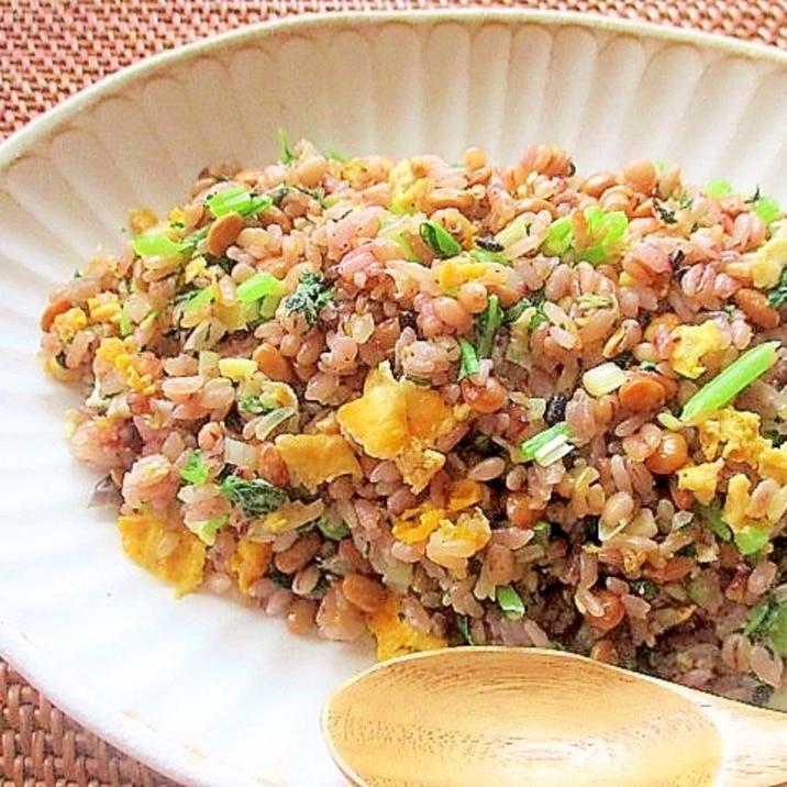 チャーハン 人気 レシピ 納豆