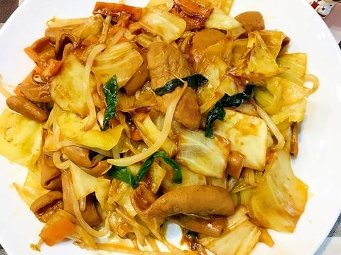野菜たっぷり!白ご飯がススムこてっちゃん味噌炒め