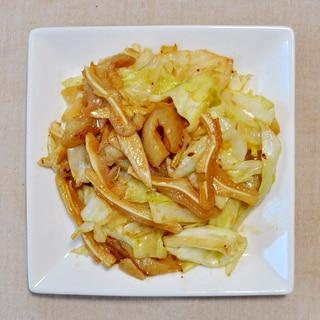 ミミガーとキャベツの味噌炒め