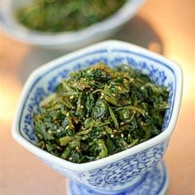 高菜と小エビの炒め物
