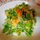 レタスとミョウガとゆで卵のマヨサラダ