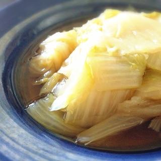 材料は白菜だけ!簡単放置!ほっこり白菜の煮浸し