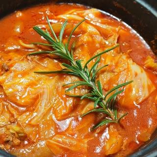 ストウブDe〜キャベツのトマト煮