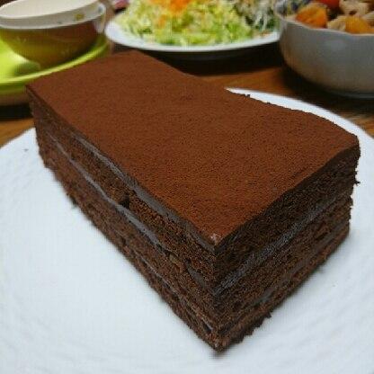本格的な生チョコケーキが作れて感激です。濃厚でとっても美味しかったです!