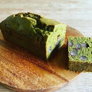 米粉の甘納豆入り抹茶パウンドケーキ