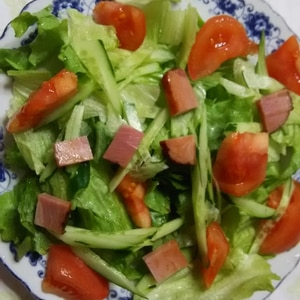 手作りドレで❤スモークサーモン&クリチのサラダ♪