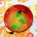 セロリ・玉ねぎの味噌汁