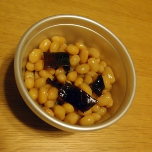 大豆の水煮を使って簡単昆布豆