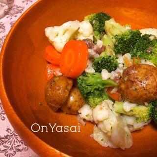 アンチョビソースの温野菜