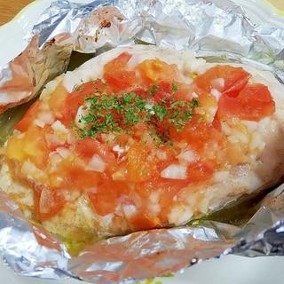 鶏のホイル焼きトマトソース