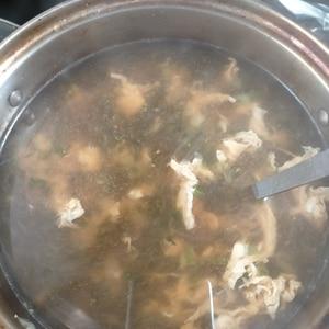 牛すじの煮汁活用 コク旨スープ