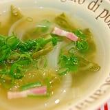 白菜と玉ねぎのコンソメスープ