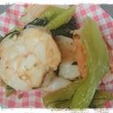 お弁当の隙間おかず☆えびと小松菜の炒め物