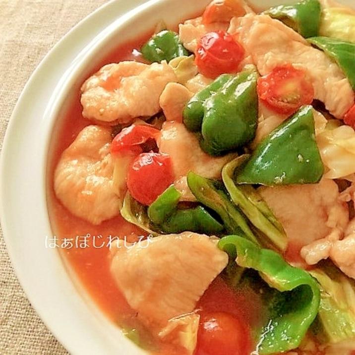 鶏と野菜の酢豚風炒め