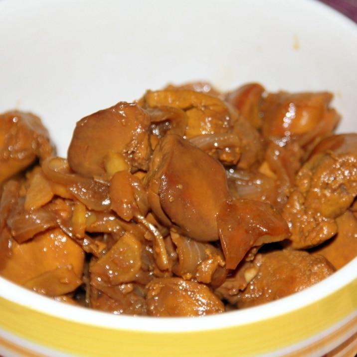鶏レバーの甘辛煮