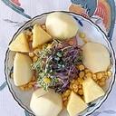 サニーレタス、ラ・フランス スイートコーンのサラダ