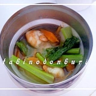 タイ風エビのすっぱ辛いスープ スープジャー利用♪