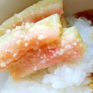 夏の節約レシピ☆スイカの味噌漬